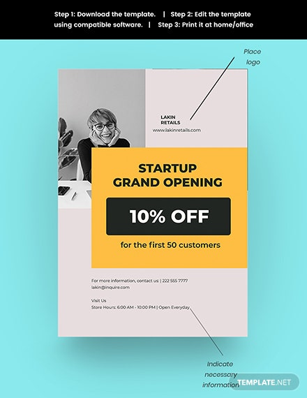 Startup Advertisement Poster Template Snippet