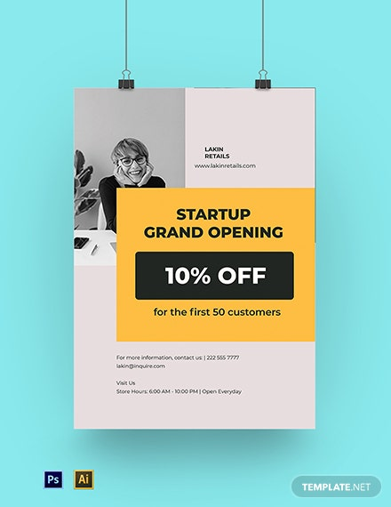 Startup Advertisement Poster Template
