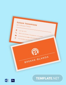 Business Card for Startup Business