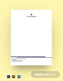 Startup Company Letterhead Template