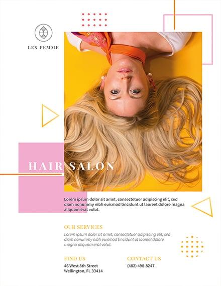 Free Salon Promotion Flyer Template