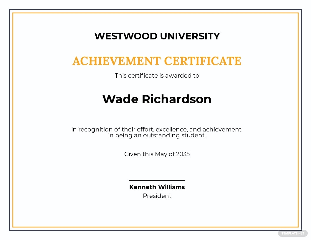 Free Academic Achievement Award Certificate Template.jpe