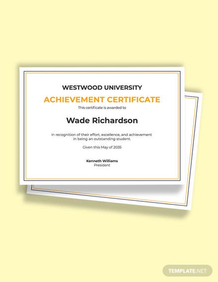 Free Academic Achievement Award Certificate Template