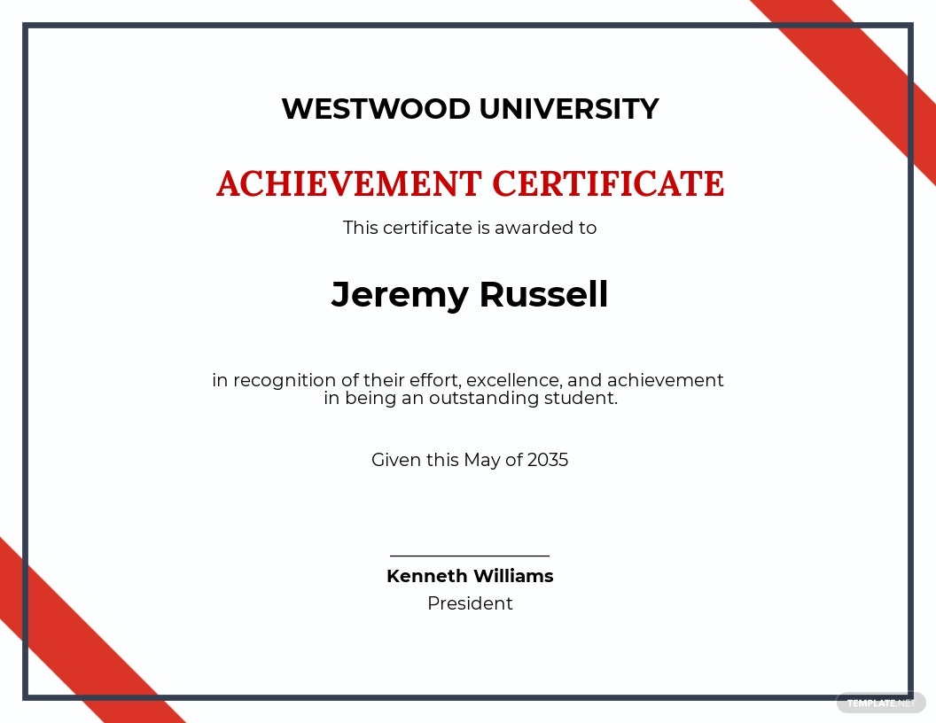 Free School Academic Achievement Certificate Template.jpe