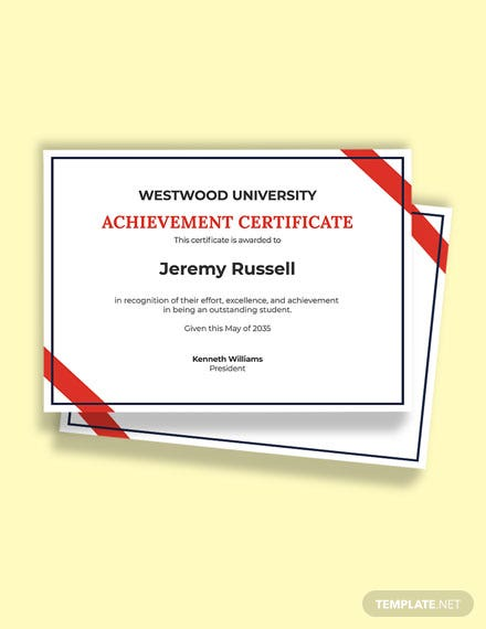 Free School Academic Achievement Certificate Template