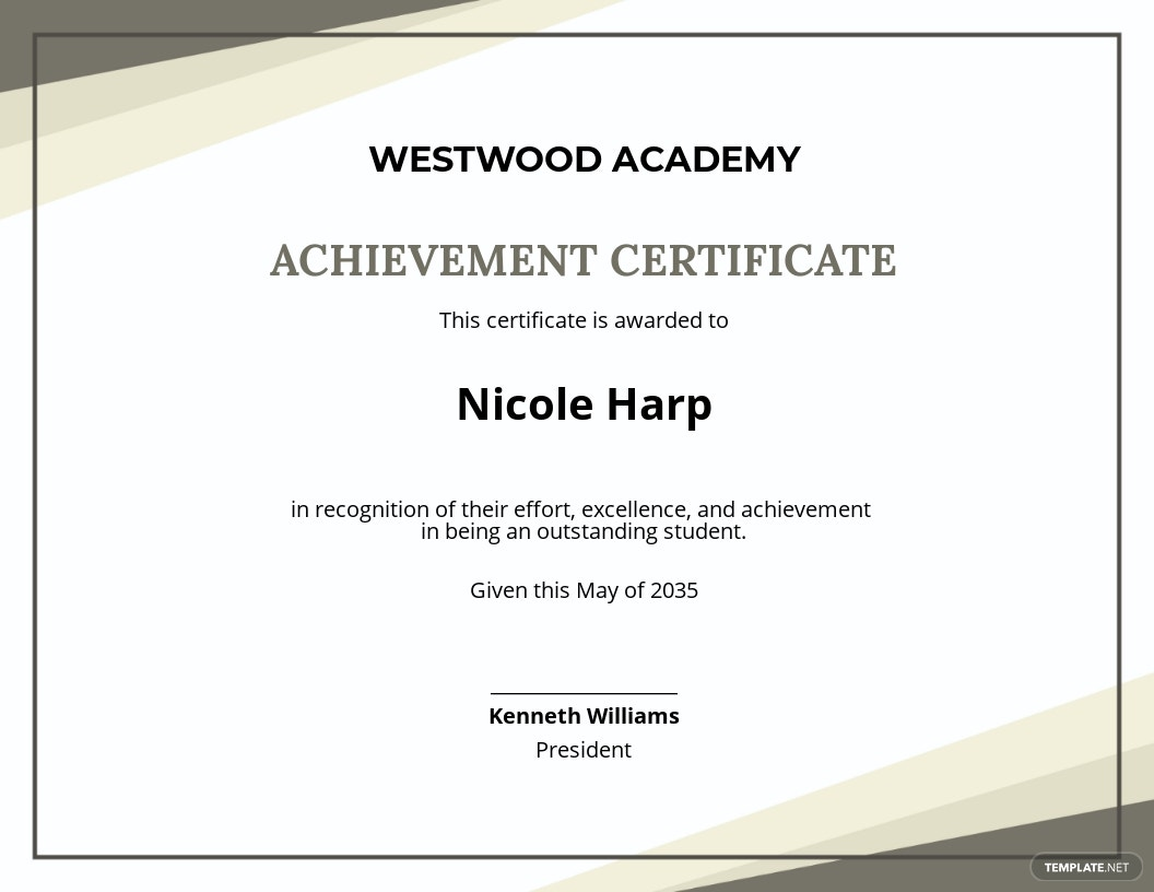 Academic Student Achievement Certificate Template.jpe