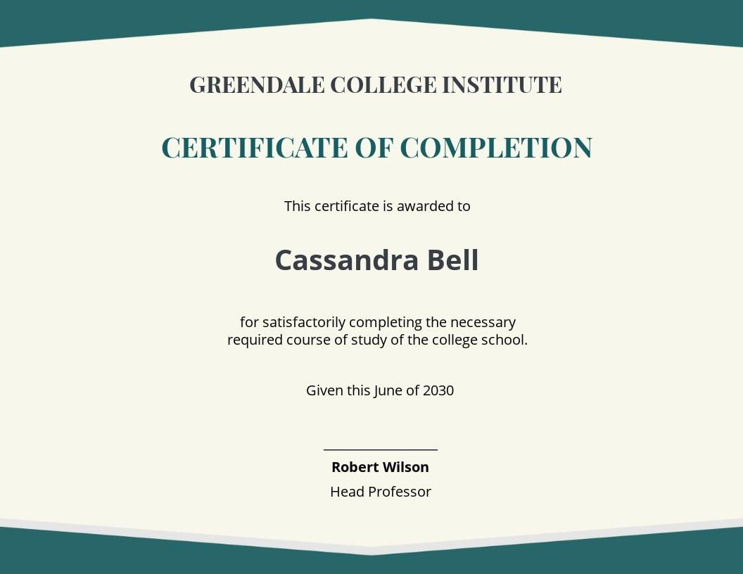 Graduate Academic Certificate Template