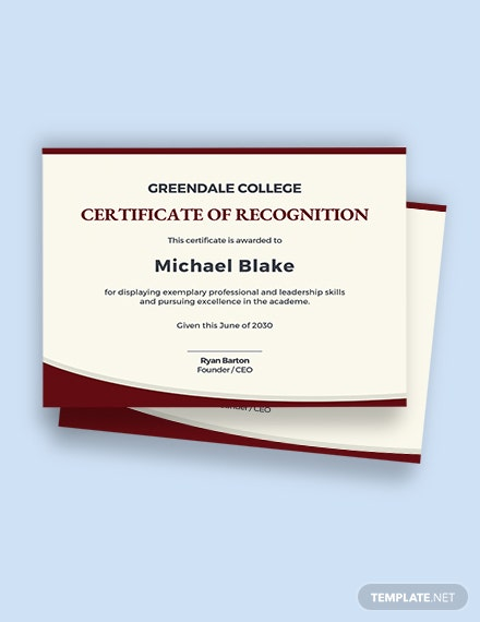Leadership Academic Certificate Template