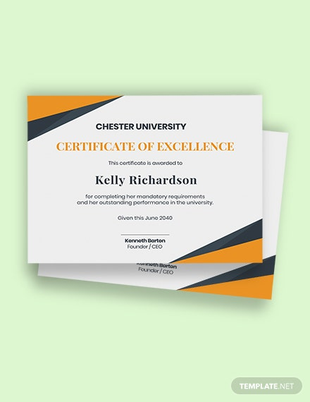 university academic certificate Template