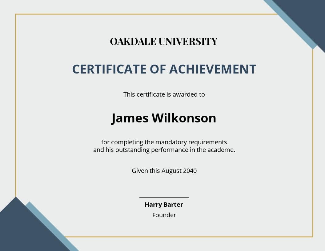 Academic Achievement Award Certificate Template.jpe