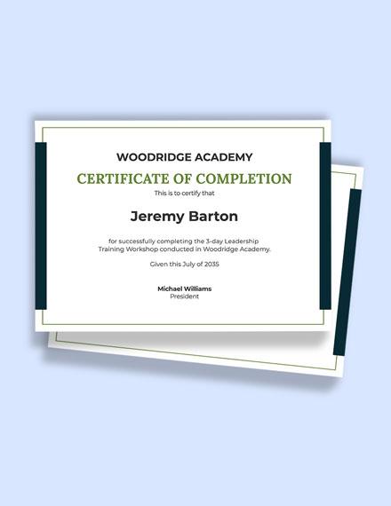 Free Leadership Training Certificate Template