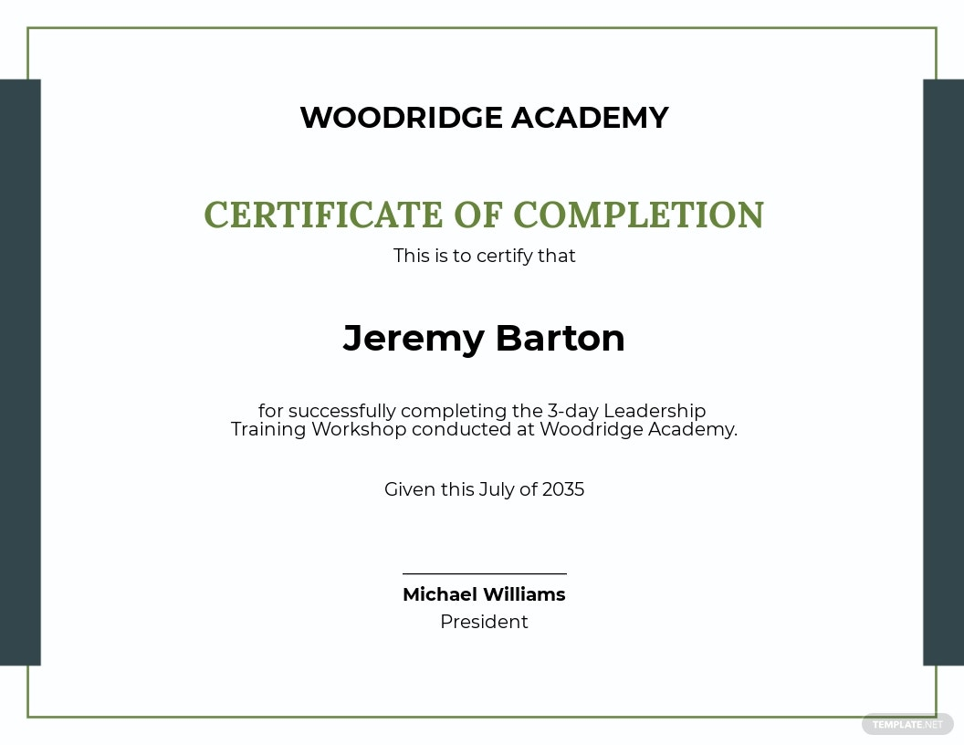 Leadership Training Certificate Template