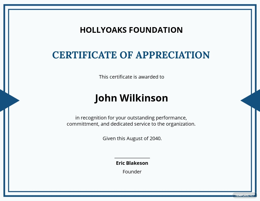 Outstanding Performance Certificate Template