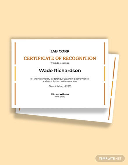 Free Leadership Excellence Award Certificate Template