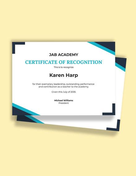 Teacher Leadership Certificate Program Template