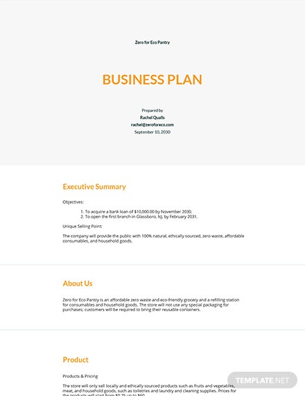 Business Plan Startup Cost Template