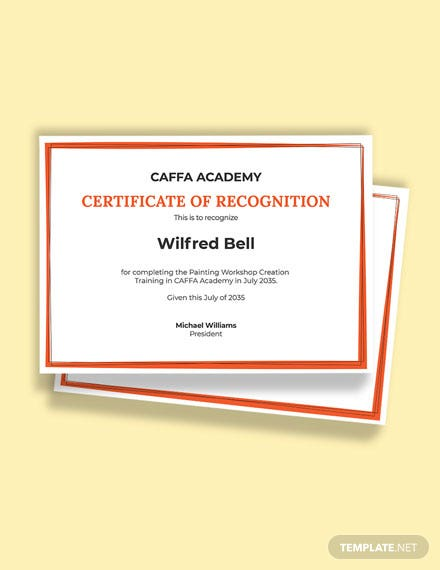 Free Painting Training Certificate Template
