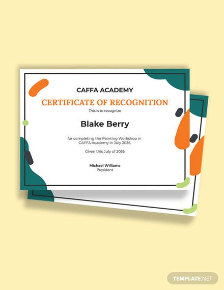 Free Painting Excellence Certificate Template
