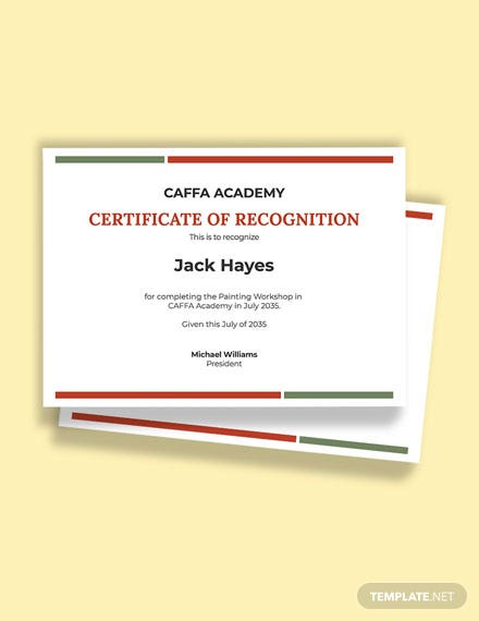 Free Painting Competition Award Certificate Template