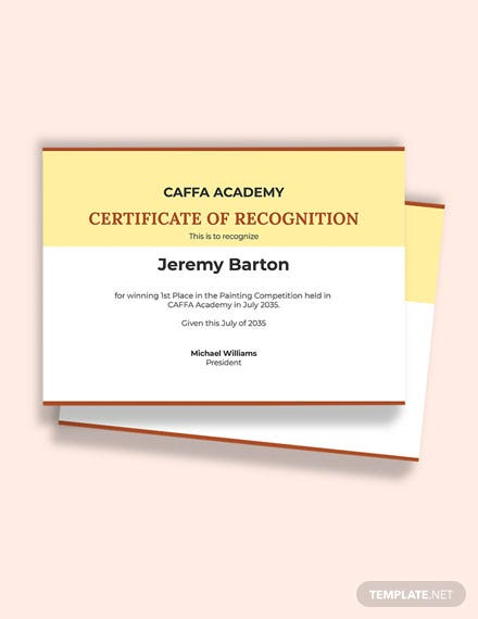 Free Painting Achievement Certificate Template