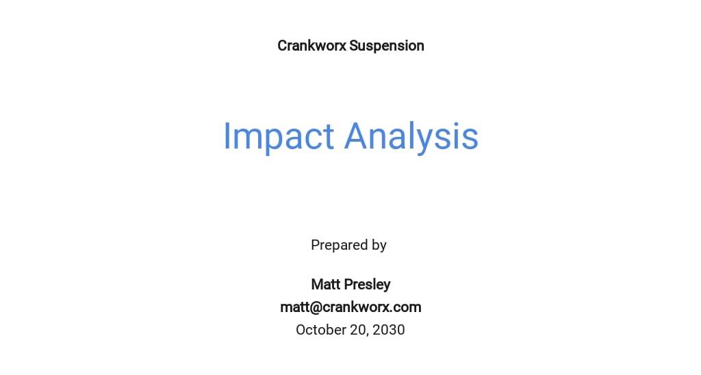 Free Impact Analysis Template