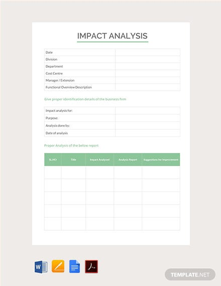 Free Impact Analysis Template