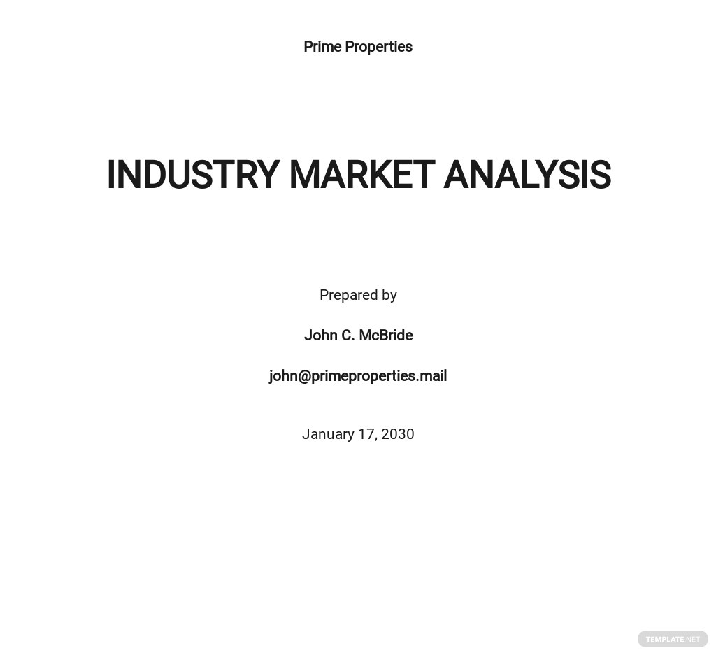 Free Industry Analysis Template