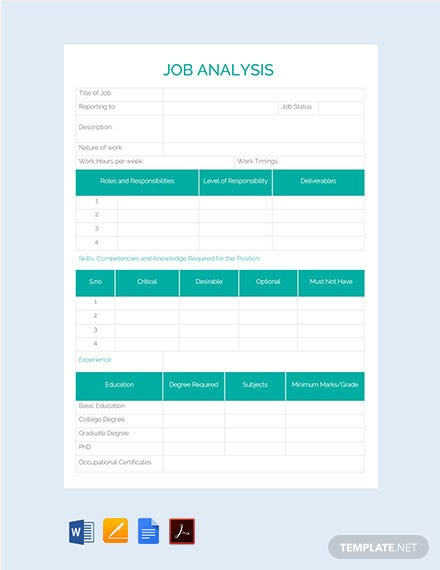 Free Job Analysis Template