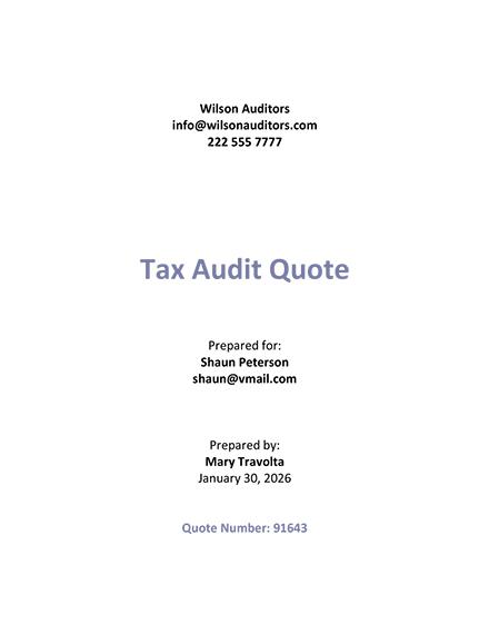 Audit Services Quotation