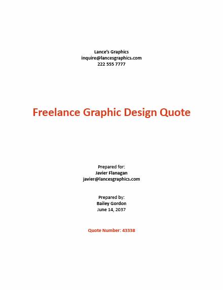 Freelance Graphic Design Quotation Template