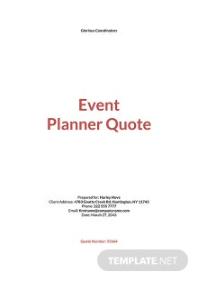 Event Planner Quotation