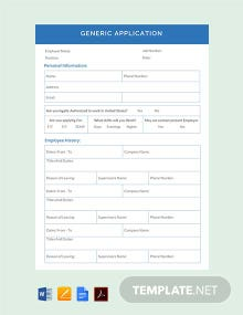 Free Generic Application Template
