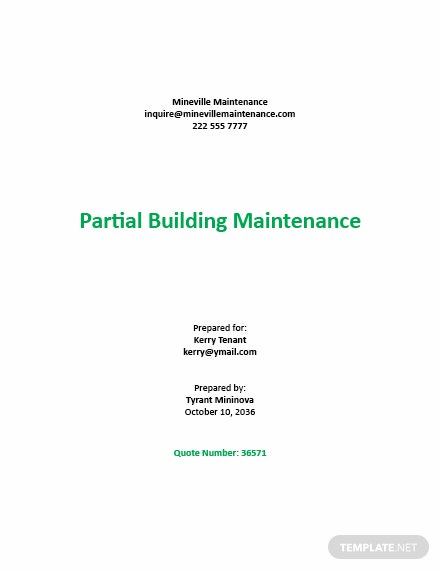 Annual Maintenance Contract Quotation Template