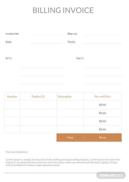 billing invoice template download 78 invoices in word excel