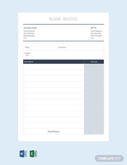 Free Blank Invoice Template