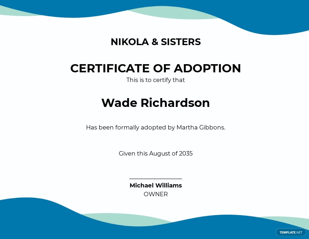 Adoption Birth Certificate Template
