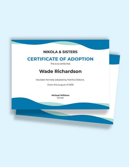 Free Adoption Birth Certificate Template