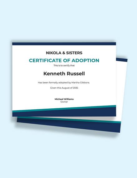 Free Post Adoption Birth Certificate Template