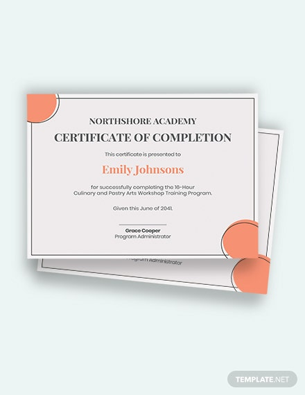 Free Workshop Training Certificate Template