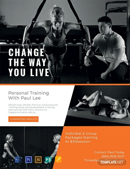 Free Personal Trainer Flyer Template