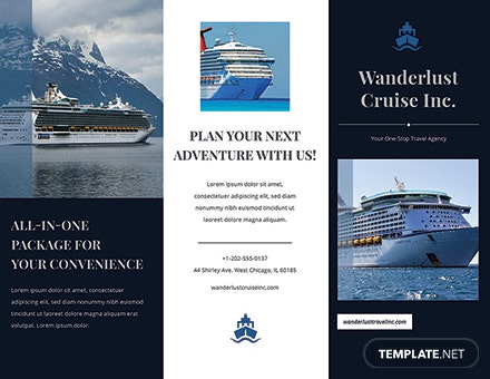 cruise travel brochure template download 151 brochures in psd illustrator word publisher pages templatenet - Cruise Brochure Template