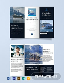 Free Cruise Travel Brochure Template