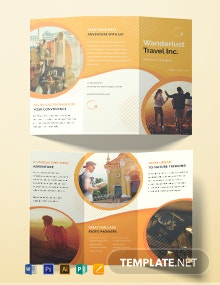 Printable Travel Agency Brochure Template