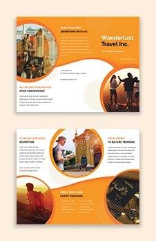Printable Travel Agency Brochure Template