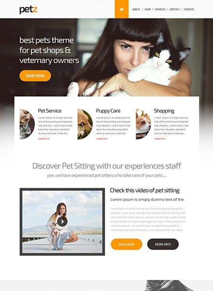 Pet Shop HTML5/CSS3 Website Template