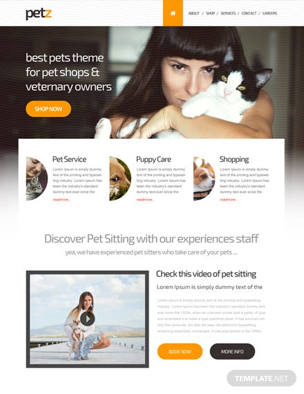 Free Pet Shop HTML5/CSS3 Website Template