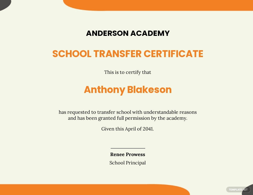 school student transfer certificate Template.jpe
