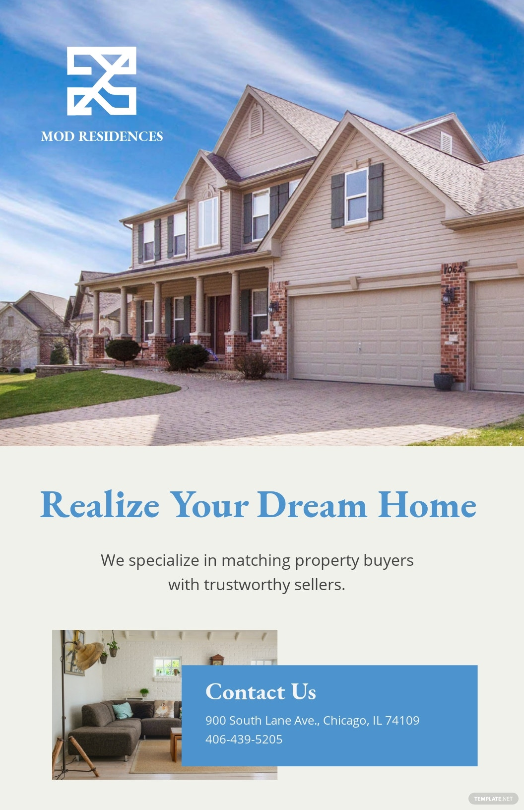 Free Real Estate Advertising Poster Template.jpe