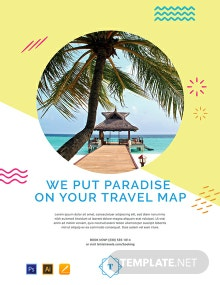 Free Travel Advertising Poster Template