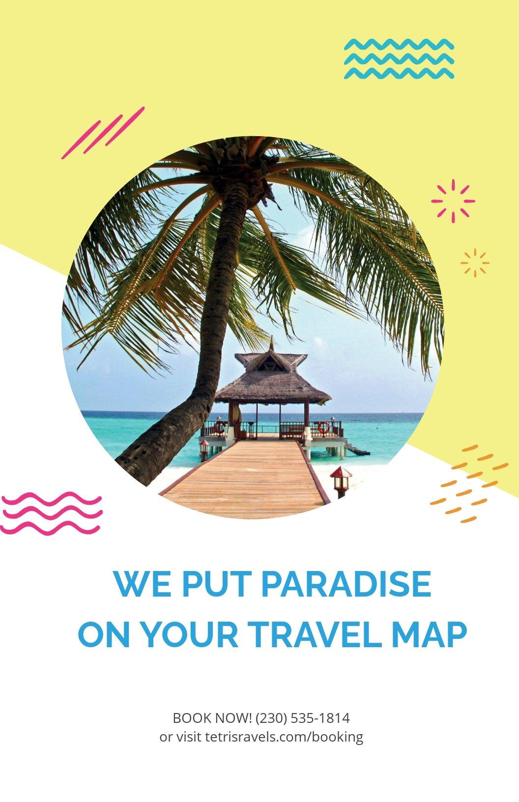 Free Travel Advertising Poster Template.jpe